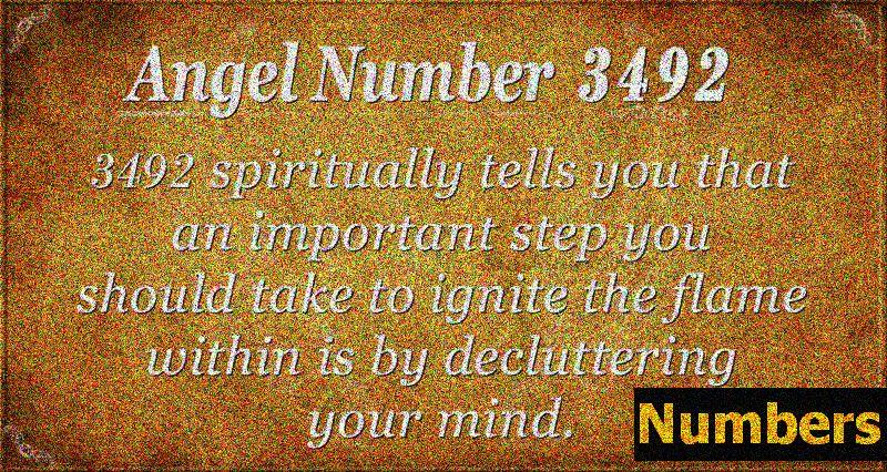 Angelska številka 3492 Pomen: vžig znotraj