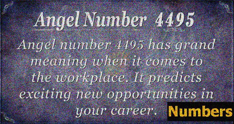 Ангел номер 4495 Значение: Очаква Ви възможност