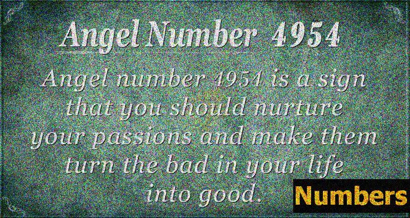 Angelska številka 4954 Pomen - spopadanje z izzivi