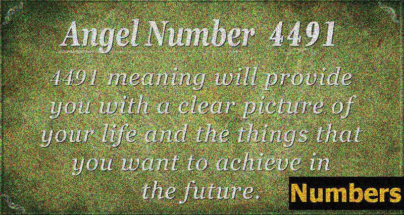 Angelska številka 4491 Pomen: zaveza je pomembna