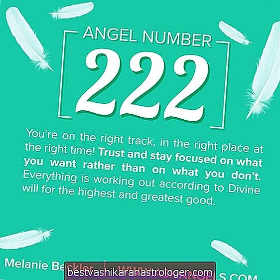 Ängelnummer 222 och dess betydelse